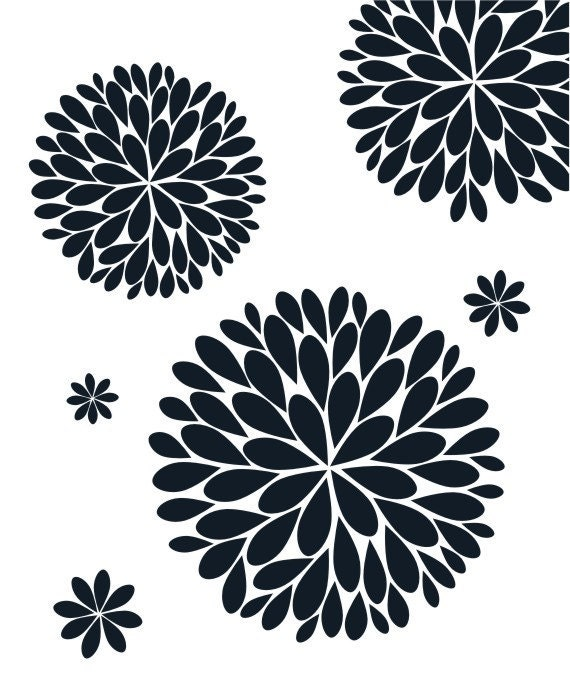 sc 1 th 247 & The Original Dahlia Flower Vinyl Wall Decal | Flower Decal