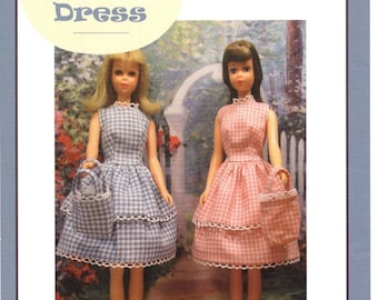 "Pattern ""GINGHAM DRESS""  by Marirose for Francie! PDF instant download complete from book ""Vintage Clothing for the Fashion Doll"""
