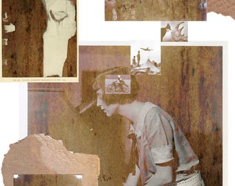 Collage Surreal Art  Home Decor Surrealist Photo Abstract Prints