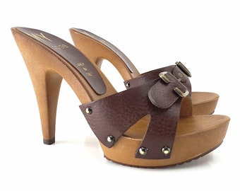 Brown Sash Clogs-brown MY3230