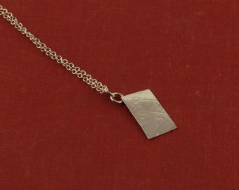 PCB textured pendant in sterling silver