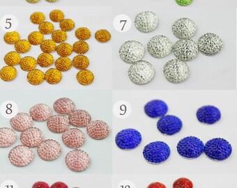 20pcs 12mm Resin Cabochons -13 colors, now your favorite color