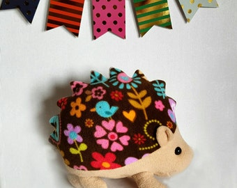 Large CUSTOM Hedgehog Fleece Plush Toy or pillow: 80+ fabrics available including hedgie fabric