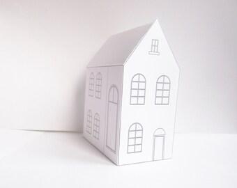 Wonderful DIY Papier Haus, Bereit Entwurfsvorlage Zu Drucken, Niedliche  Weihnachtsdekoration!, Erstellen Sie