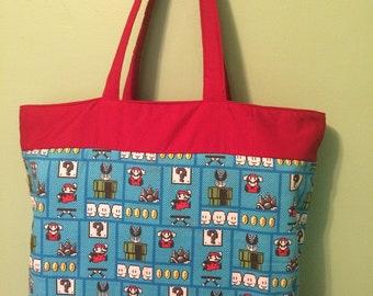 8-bit Mario Tote Bag