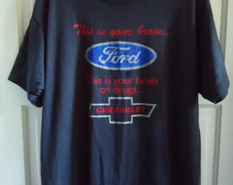 Vintage 80s FORD T Shirt sz M/L