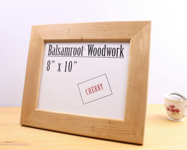 cherry wood frame, 8 x 10 frame, solid wood frame, 10 x 8 frame ...