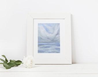 PRINT Abstract Ocean Painting, Original Ocean Artwork, Modern Ocean Art, Nursery Wall Art, Coastal Wall Art, Gift for Her, Gift for Women