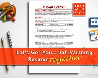 Resume Template Professional Resume Template Instant Download Modern Resume Template CV Template CV Design Free Resume Template Word + Mac