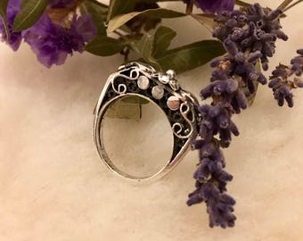 Giza Desert Flower: Egyptian Silver Ring