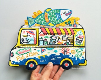 Fish n' Chips Truck XXL Back Patch