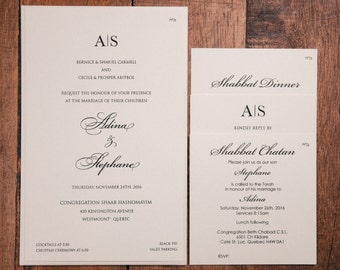 Jewish wedding invitation Etsy