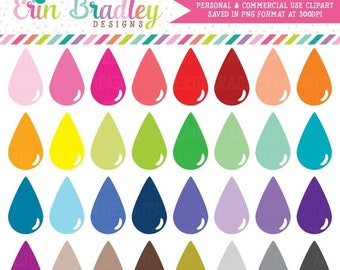 80% OFF SALE Teardrops Clipart Instant Download Personal & Commercial Use Clip Art Graphics