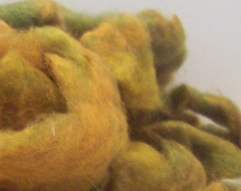 "Carded Roving ""Falling for Ewe"" Romney Mohair 2 oz hank"