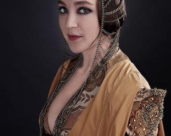 Ellaria Sand inspirado en tocado de cadena de metal