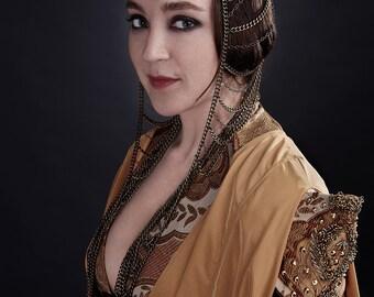 Ellaria Sand inspired metal chain headdress