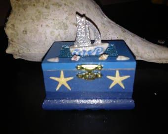 Come Sail Away! - Ocean Sailing Inspired Trinket Treasure Box