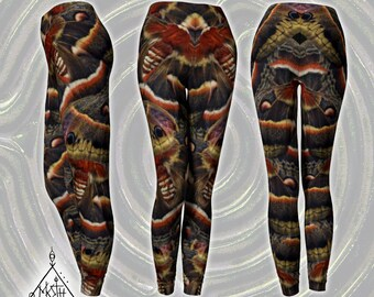 Cecropia Moth Leggings [XS to XL] [Made-to-Order]