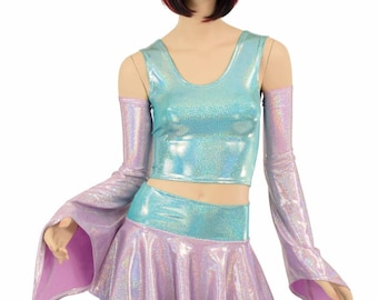 Pixie Day-Tripper Set in Lilac Holographic and Seafoam Holographic - 154870