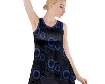 Doctor Who Tunic - Sleeveless Tunic Dr Who Tunic Cosplay Tunic Comicon Tunic Plus Size Tunic Sci-Fi Tunic Gallifreyan Tunic Doctor Who Top
