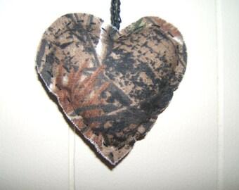 Heart Camoflauge Fabric Heart decoration