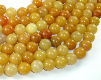 Yellow Aventurine Beads, 10mm(10.5mm) Round Beads, 15 Inch, Full strand, Approx 37 beads, Hole 1mm, A quality (439054003)