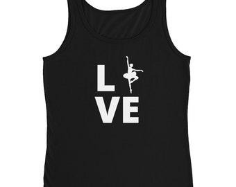 Ballet Love Tee | Ballet Dancer T-Shirt | Ladies' Tank