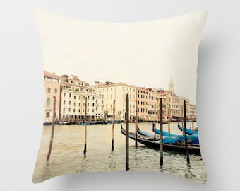 decorative throw pillow, venice italy photography pillow cover, home decor, europe, travel, architecture, landscape