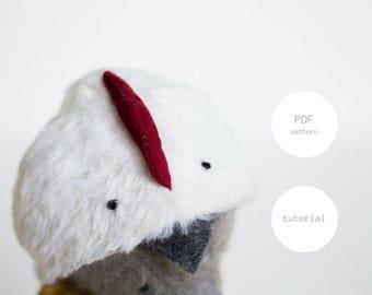 PDF Sewing Pattern & Tutorial Mohair Teddy Bear Easter Chicken 6 Inches Artist Teddy Bear Pattern Stuffed Animal Pattern For Women Soft Toys