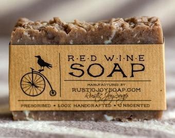 Red Wine Soap gift for her artisan soap wedding favors handmade gift for girlfriend gift for wife gift for women bestfriend gift luxury soap