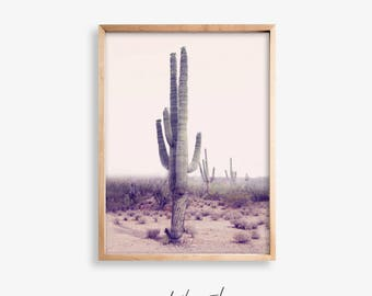Desert Cactus Printable, Desert Print, Cactus Printable poster, Modern Cactus Photo, Desert Art Print, Cactus Print, Desert Printable Art
