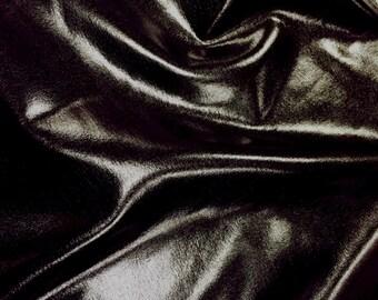 Stretchy PVC  shiny black
