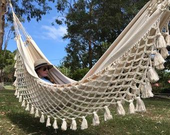 Tintoreo off white luxury hammock - worldwide free shipping