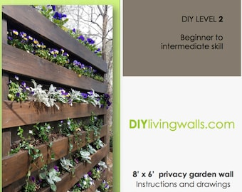 Mothers DAY SALE - 8' x 6' Vertical Garden Wall DIY instructions