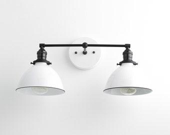 Farmhouse Lighting   Modern Vanity Light   Vanity Light Fixture   White  Wall Light   Bathroom
