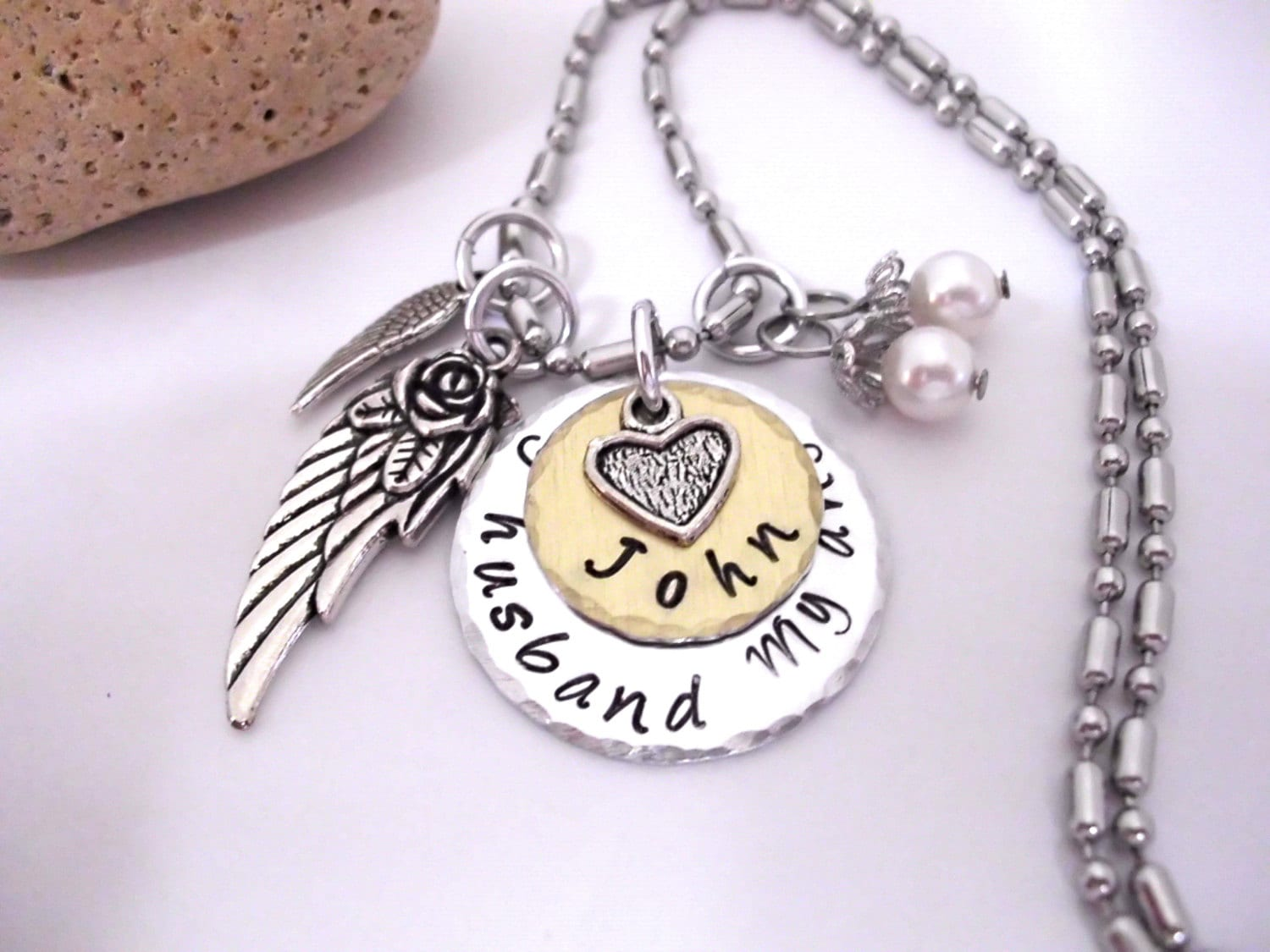 quot pendant larger always in steel memorial see product wholesale stainless heart my image lily