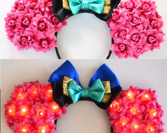 Light-Up Scandinavian Princess Floral Mouse Ears