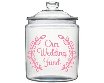 Our Wedding Fund Decal, Wedding Savings, Savings Jar Decal, Engagement Decals