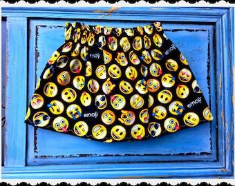 emoji skirt girls emoji 2T 3T 4T 5T 4/5 6/6X 7/8 10/12 14/16 ready to ship
