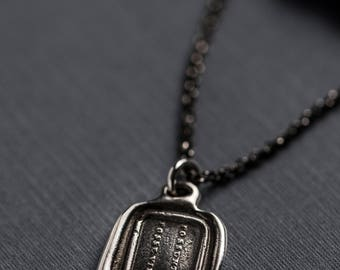 Limitless Wax Seal Necklace - They can because they think they can