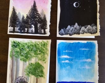 Hand Painted Cards Set 2