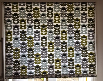 Roman Blind Made in Orla Kiely Sweet Pea Cotton Fabric