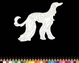 2 cut scrapbooking animal dog Greyhound cut paper embellishment die cut creation