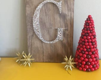 Personalized Intial String Art Sign