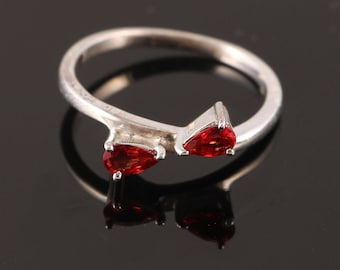 Handmade Jewelry, 925 Sterling Silver, Red Sapphire, Silver Sapphire Ring, Gift Idea Gift For Her, Gift For Wife Red Jewelry, Christmas Sale