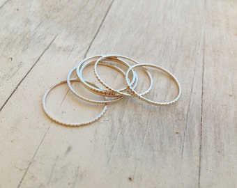 5 Gold rings, gold ring, thin rings, stacking rings, stacking gold rings, thin ring, tiny ring, gold stacking rings, simple gold ring - RR22