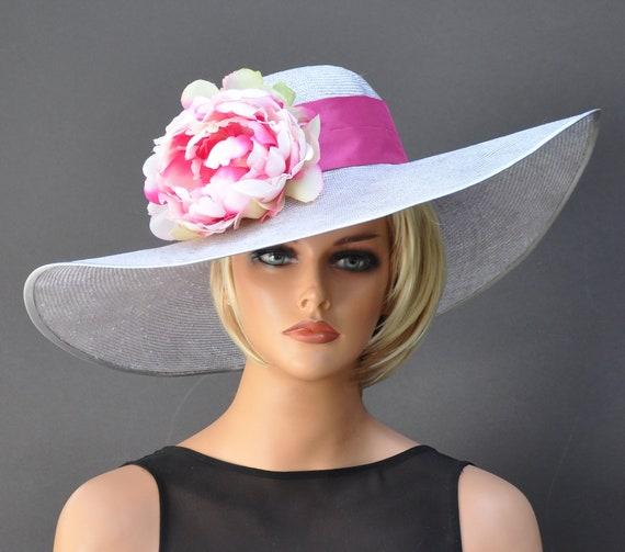 Kentucky Derby Hat, Wedding Hat, Wide Brim Hat, Ascot Hat, Derby Hat, Occasion Hat
