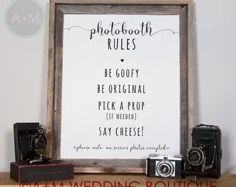 Wedding Signage sign Instant Printable Photo Booth Sign /   11x14 on White