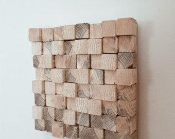 Reclaimed Wood Wall Art, Abstract Wood Wall Art, Abstract Wall Art, Wood Wall Art, Geometric Wall Art, Rustic Wall Art