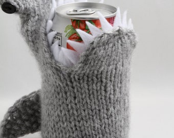 Shark Week, Hammerhead Shark, Geeky, Drinkware, Gift for Teacher, for Student, Friends, Gift for Boyfriend, Beer Cozy, Sport Drink, Knitted